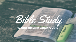 Wednesday Night Bible Study Coming in January