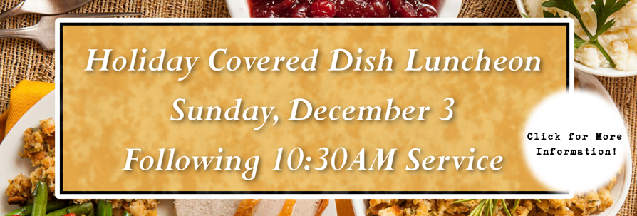 First Sunday Covered Dish Luncheon